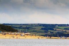 Belle vue au-dessus de la mer près de Padstow Images stock