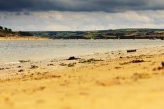 Belle vue au-dessus de la mer près de Padstow Photo stock
