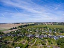 Belle vue au-dessus de la terre sur le point de repère vers le bas Photographie stock libre de droits