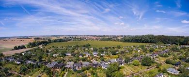 Belle vue au-dessus de la terre sur le point de repère vers le bas Photo stock