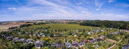 Belle vue au-dessus de la terre sur le point de repère vers le bas Photos libres de droits