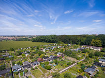 Belle vue au-dessus de la terre sur le point de repère vers le bas Photo libre de droits