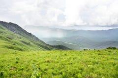 Belle vue au-dessus des montagnes du plateau de Nyika Photo libre de droits