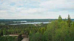 Belle vue au päijänne de lac en Finlande images libres de droits