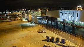 Belle vue d'aéroport Photo libre de droits