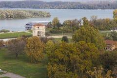 Belle vue d'automne de Belgrade de forteresse de Belgrade serbia photographie stock