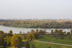 Belle vue d'automne de Belgrade de forteresse de Belgrade serbia images stock