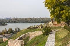 Belle vue d'automne de Belgrade de forteresse de Belgrade serbia images libres de droits