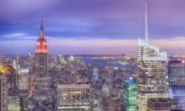 Horizon de New York City image libre de droits