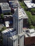 belle vue d'ig du bâtiment de Smith Tower, 38 histoire 149 m b grand Photo stock