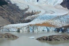 Belle vue d'un glacier à l'intérieur du parc national de visibilité directe Glaciares, EL Chaltén, Argentine Photos stock