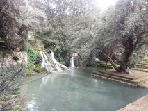 Belle vue d'une piscine naturelle images libres de droits