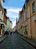 Belle vue d'une ville européenne un jour ensoleillé photo stock