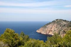 Belle vue dans Ibiza Photos stock