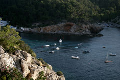Belle vue dans Ibiza photos libres de droits