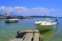 Belle vue de bord de la mer, Grèce images libres de droits