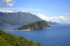 Belle vue de côte de Mer Adriatique, Monténégro Photos libres de droits