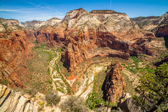 Belle vue de canyon en Zion National Park Photo libre de droits
