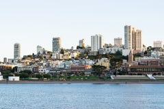 Belle vue de centre d'affaires à San Francisco du centre aux Etats-Unis images libres de droits