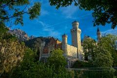 Belle vue de château de Neuschwanstein Image stock