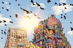 Belle vue de gopura coloré dans le Kapaleeshwarar indou Te Photographie stock