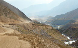 Belle vue de gorge Maipo, Chili images libres de droits