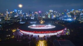 Belle vue de karno de bondon de Gelora la nuit images libres de droits