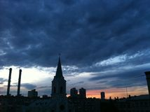 Belle vue de l'église Photographie stock libre de droits