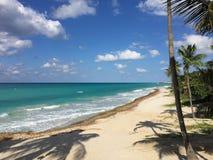 Belle vue de l'océan Côte atlantique du Cuba Varadero photo libre de droits