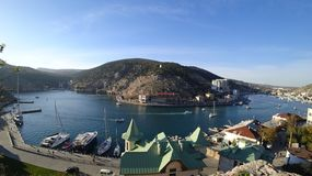 Belle vue de la baie de mer un après-midi d'automne photographie stock libre de droits
