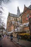 Belle vue de la cathédrale à Haarlem, Hollande Photographie stock