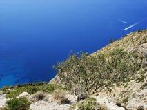 Belle vue de la mer Images libres de droits