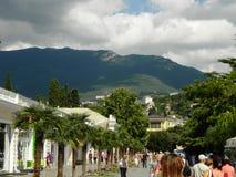 Belle vue de la montagne de la ville Image libre de droits