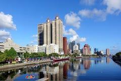Belle vue de la rivière d'amour à Kaohsiung Image stock