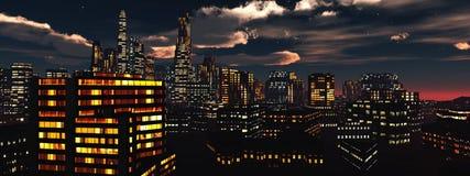 Belle vue de la ville Image libre de droits