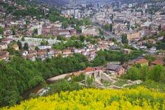 Belle vue de la ville de Sarajevo, Bosnie-Herzégovine photos stock