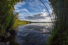 Belle vue de lac Photo libre de droits