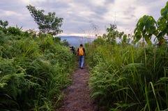Belle vue de lever de soleil à la colline de broga, Malaisie Photos stock
