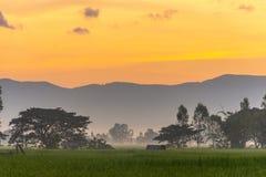 Belle vue de lever de soleil image libre de droits