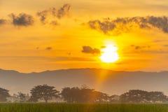 Belle vue de lever de soleil photographie stock libre de droits