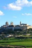 Belle vue de Lmdina la vieille ville de Malte Photographie stock libre de droits
