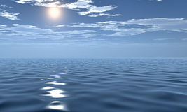 belle vue de matin de la mer 3D Image stock