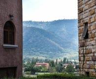 Belle vue de montagne photo stock