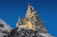 Belle vue de montagne de Mnich dans le soleil de deuil Photos libres de droits