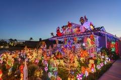 Belle vue de nuit, décoration de Noël de hou américain de style Photos stock