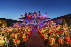 Belle vue de nuit, décoration de Noël de hou américain de style Images libres de droits