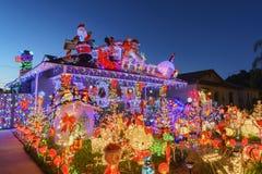 Belle vue de nuit, décoration de Noël de hou américain de style Photographie stock
