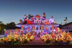 Belle vue de nuit, décoration de Noël de hou américain de style Image stock