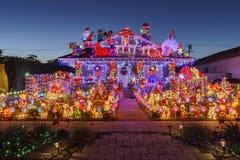 Belle vue de nuit, décoration de Noël de hou américain de style Images stock