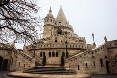 Belle vue de pêcheur historique Bastion, Budapest, Hongrie, l'Europe image stock